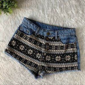 UO BDG High Rise Dree Cheeky Sweater Shorts
